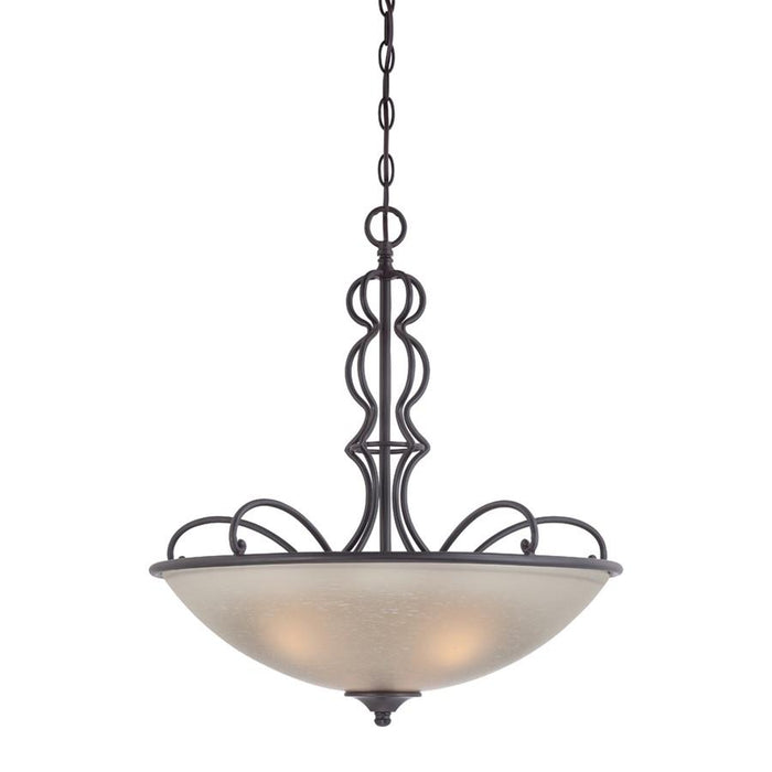 Designers Fountain Tangier Inverted Pendant, Natural Iron