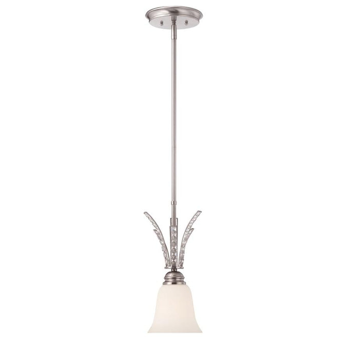Designers Fountain Grand Plazza Mini Pendant, Satin Platinum