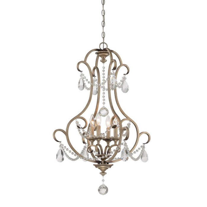 Designers Fountain Gala 4 Light Foyer, Argent Silver