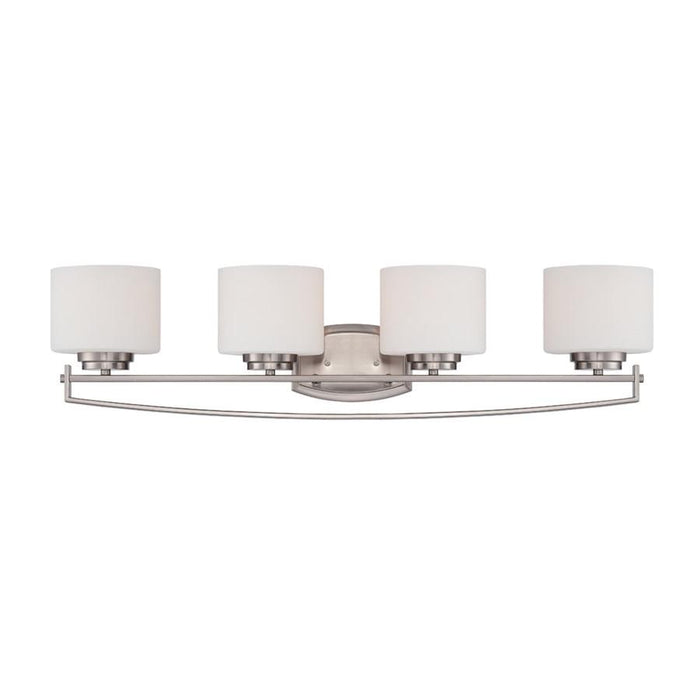 Designers Fountain Axel Bathroom Lighting, Satin Platinum