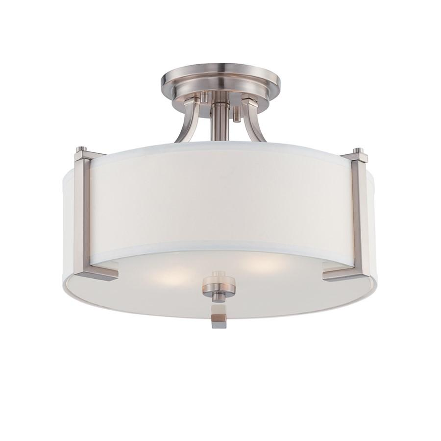 Designers Fountain Axel Semi Flush, Satin Platinum