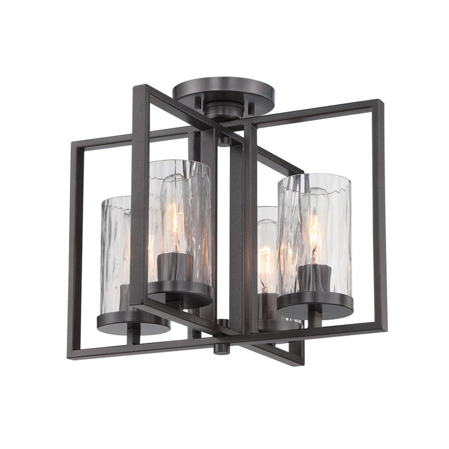 Designers Fountain Elements Semi Flush, Charcoal