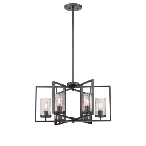 Designers Fountain Elements 6 Light Chandelier, Charcoal