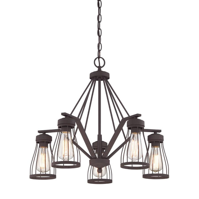 Designers Fountain Brooklyn 5 Light Chandelier, Bronze