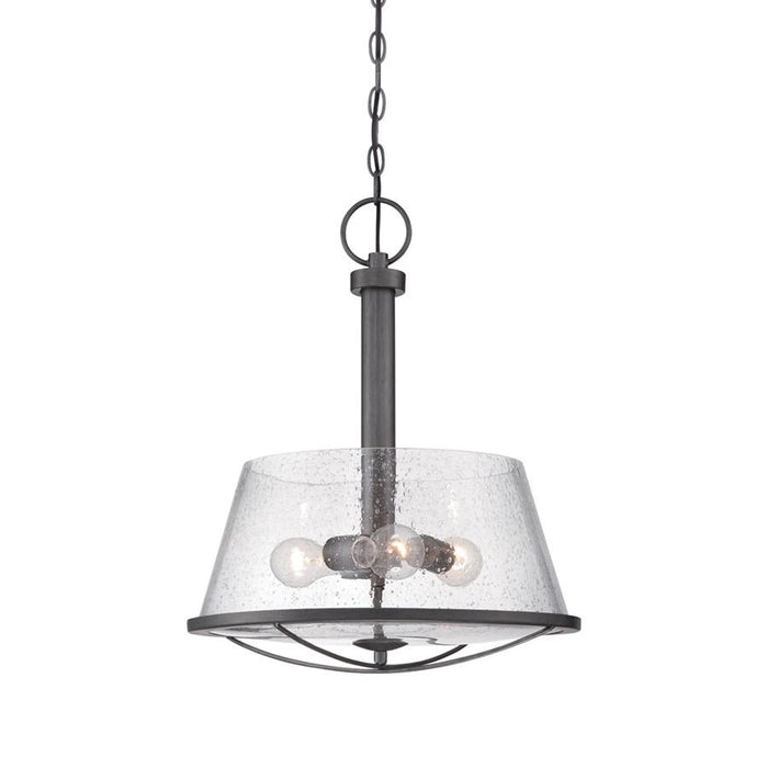 Designers Fountain Darby Pendant, Weathered Iron