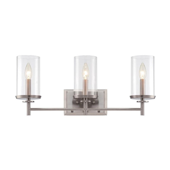 Designers Fountain Harlowe Bathroom Vanity Lighting, Satin Platinum