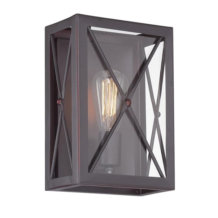 Designers Fountain High Line Wall Sconce, Satin Bronze