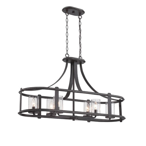 Designers Fountain Palencia 6 Light Linear Chandelier, Artisan Pardo