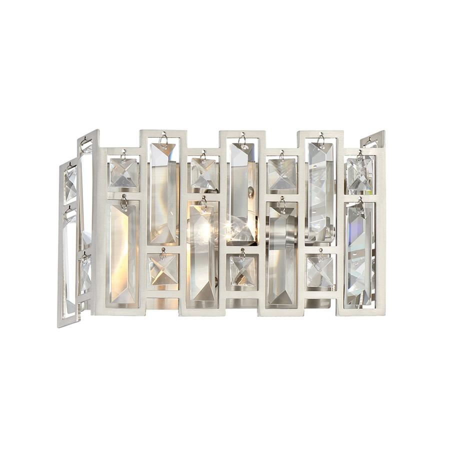 Designers Fountain West 65th 1 Light Wall Sconce, Satin Platinum