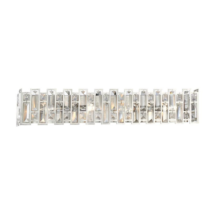 Designers Fountain West 65th Wall Sconce, Satin Platinum