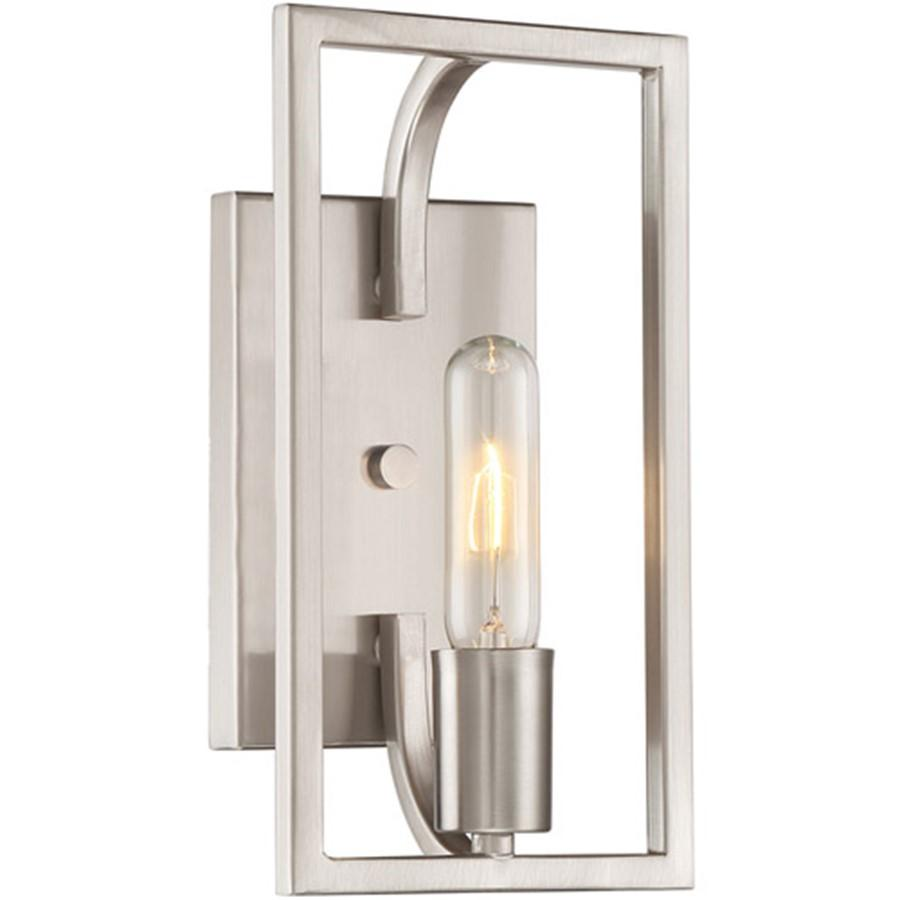 Designers Fountain Uptown 1 Light Wall Sconce, Satin Platinum