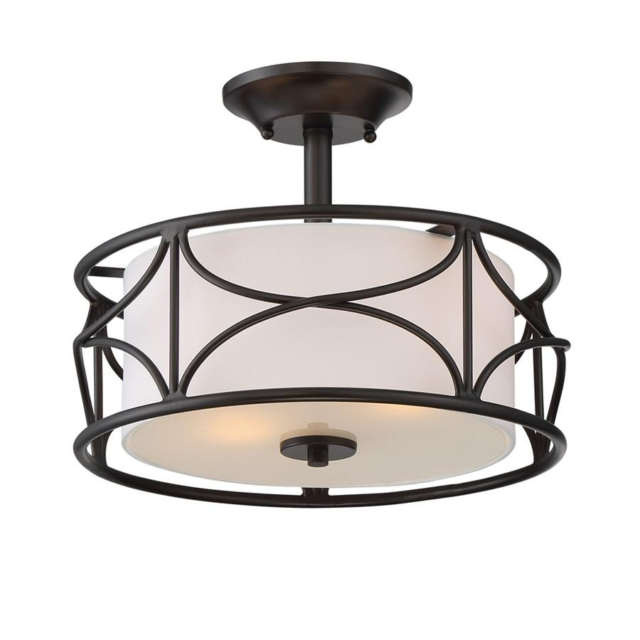 Designers Fountain Avara 2 Light Semi Flush, Oil Rubbed Bronze