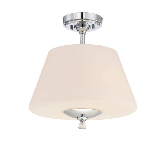 Designers Fountain Lusso 2 Light Semi Flush, Chrome