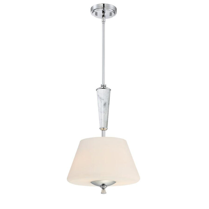 Designers Fountain Lusso 2 Light Inverted Pendant, Chrome