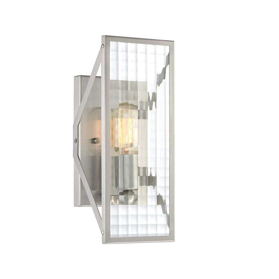 Designers Fountain Pivot 1 Light Wall Sconce, Satin Platinum