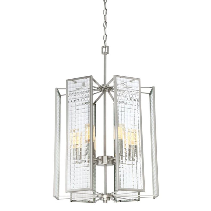 Designers Fountain Pivot Foyer, Satin Platinum