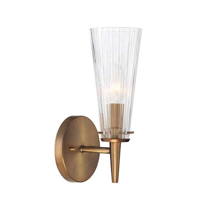 Designers Fountain Montelena 1 Light Wall Sconce, Old Satin Brass