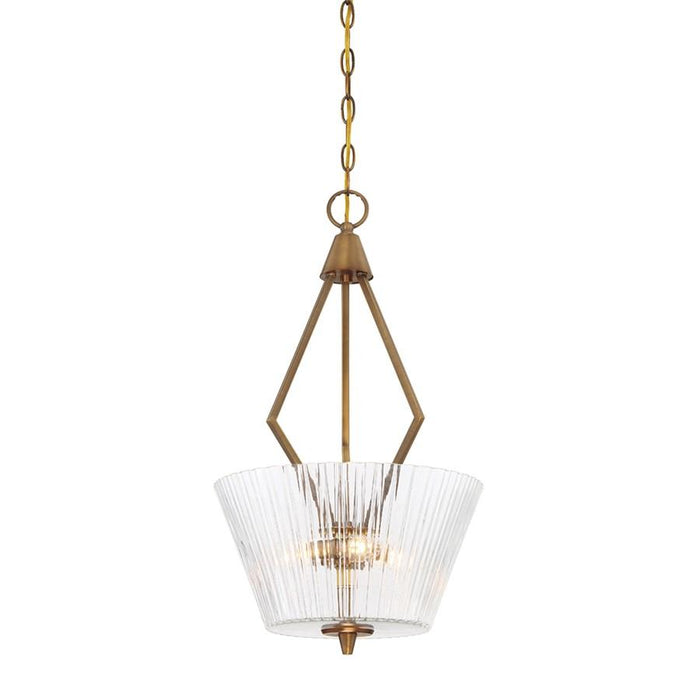 Designers Fountain Montelena 3 Light Inverted Pendant, Old Brass