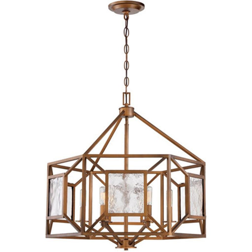 Designers Fountain Athina 6 Light Chandelier, Gilded Bronze