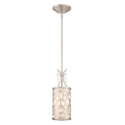 Designers Fountain Brentwood 1 Light Mini-Pendant, Satin Platinum