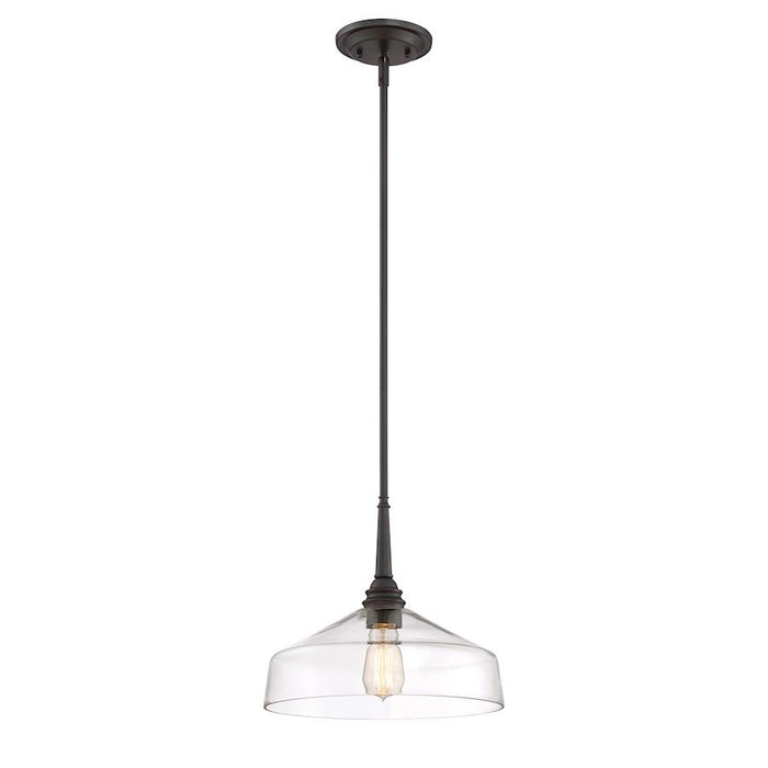 Designers Fountain Foundry 1 Light Pendant, Satin Bronze