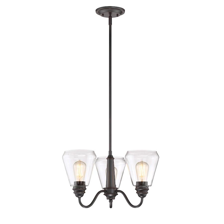 Designers Fountain Foundry Chandelier, Satin Bronze