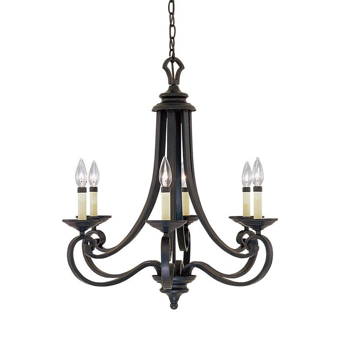 Designers Fountain Barcelona 6 Light Chandelier, Iron