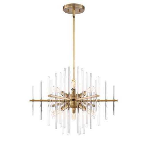 Designers Fountain Reeve 6 Light Chandelier, Burnished Antique Brass