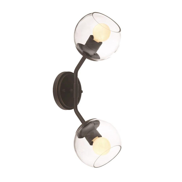 Designers Fountain Meridian 2 Light Wall Sconce, Satin Bronze