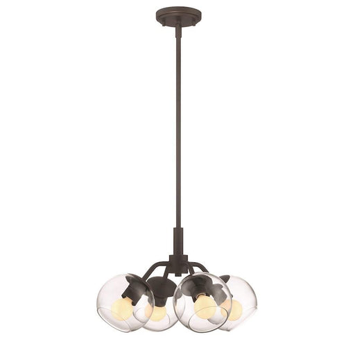Designers Fountain Meridian 4 Light Convertible Pendant, Satin Bronze