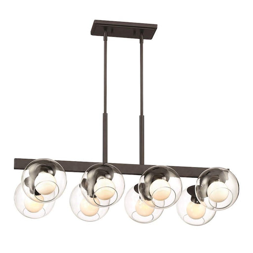 Designers Fountain Meridian 8 Light Linear Chandelier, Satin Bronze