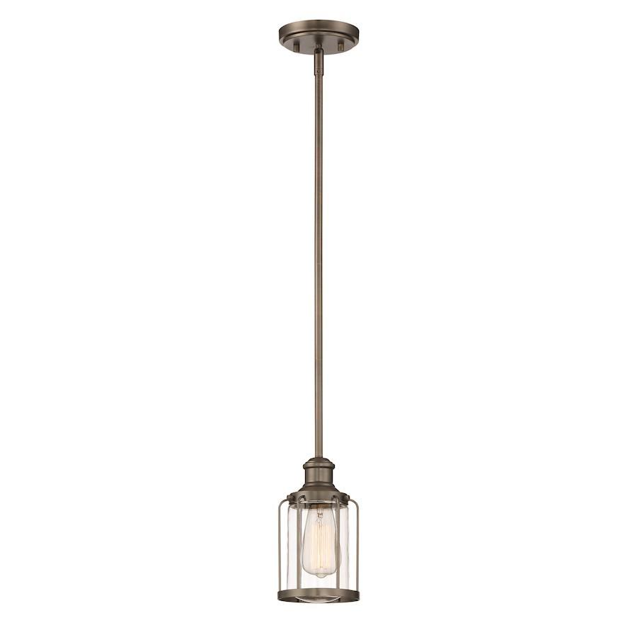 Designers Fountain Anson Mini Pendant, Satin Copper Bronze