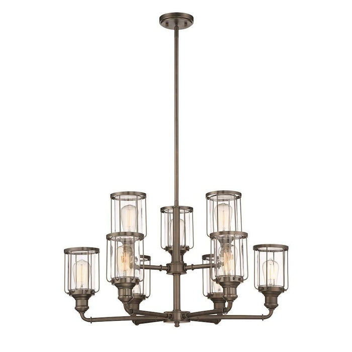 Designers Fountain Anson Chandelier, Satin Copper Bronze