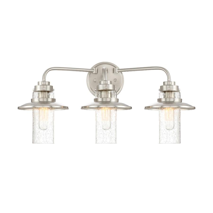 Designers Fountain Dover Bathroom Vanity Lighting, Satin Platinum