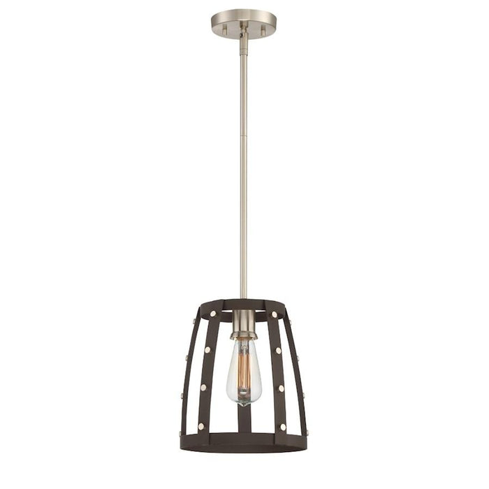 Designers Fountain Presidio 1 Light Mini-Pendant, Rustique
