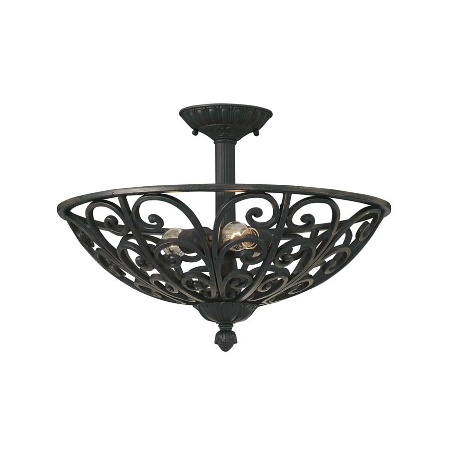 Designers Fountain Alhambra Semi Flush, Natural Iron