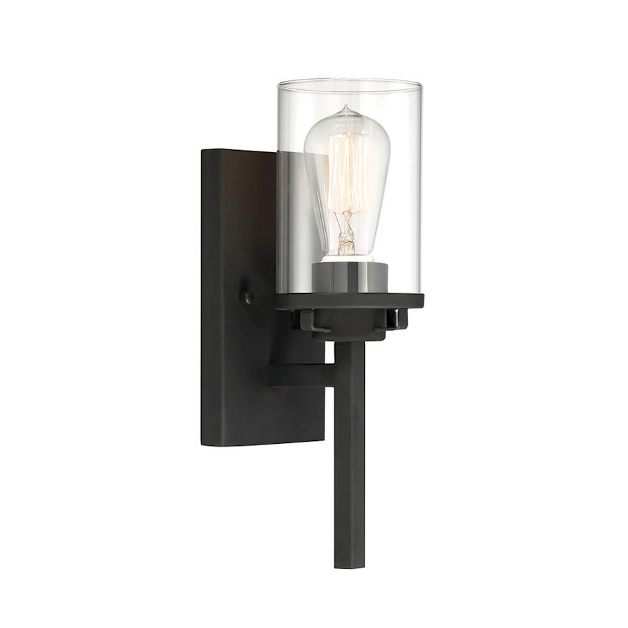 Designers Fountain Jedrek 1 Light Wall Sconce, Black