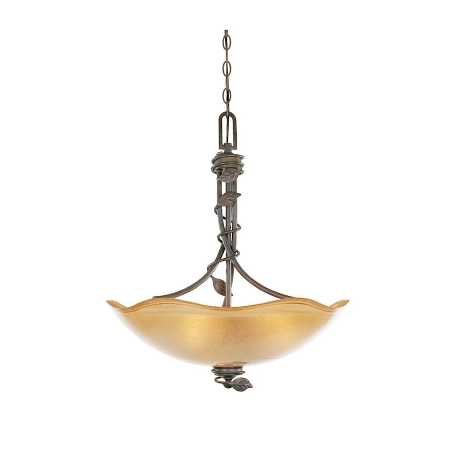 Designers Fountain Timberline Inverted Pendant, Old Bronze