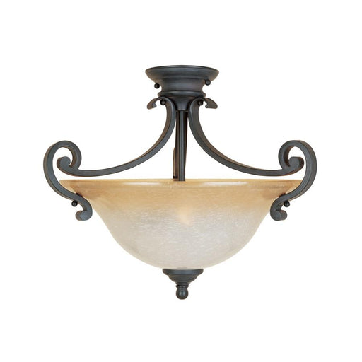 Designers Fountain Barcelona Semi Flush, Natural Iron