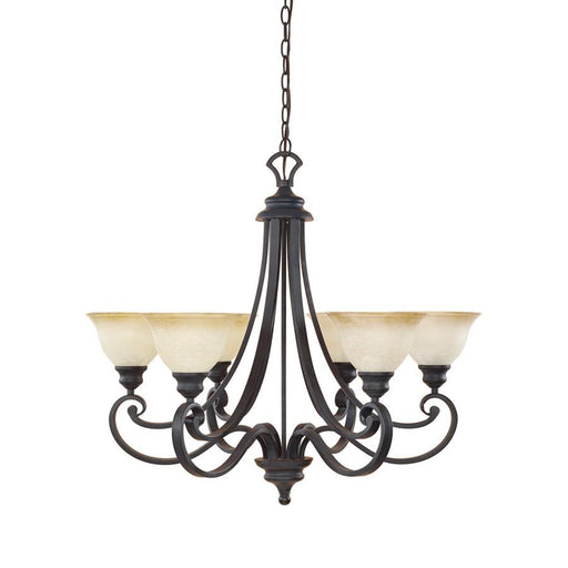 Designers Fountain Barcelona Chandelier, Natural Iron