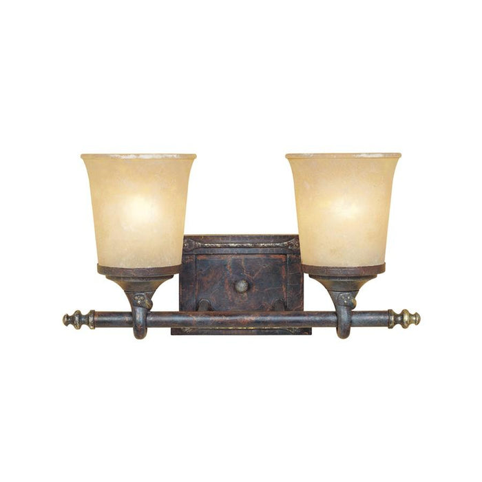 Designers Fountain Austin Bathroom Vanity Lighting, Weathered Saddle