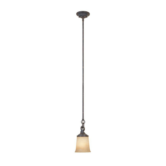 Designers Fountain Austin Mini Pendant, Weathered Saddle