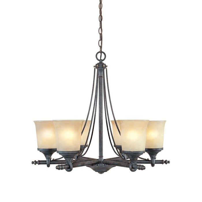 Designers Fountain Austin Chandelier, Weathered Saddle