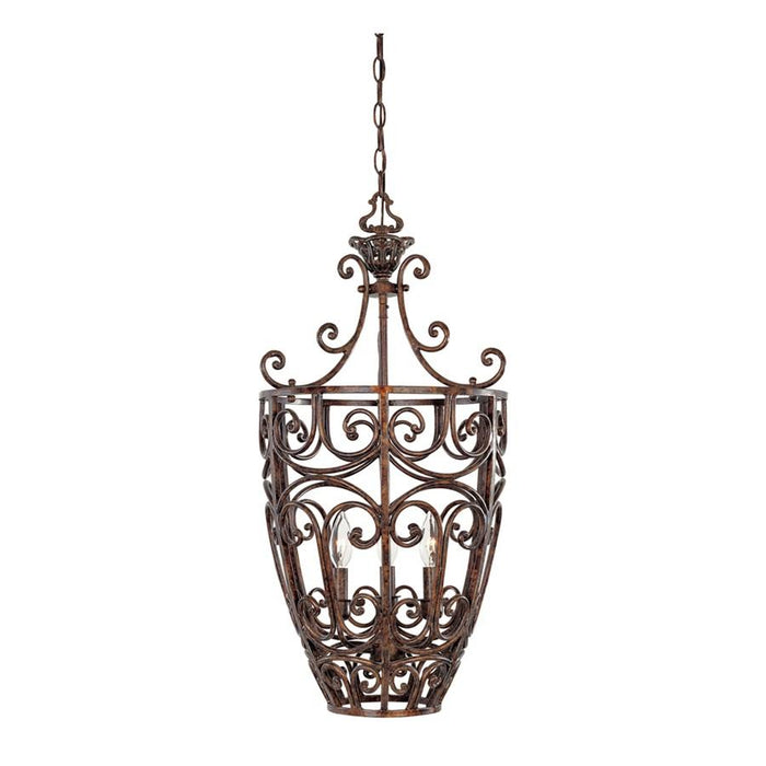 Designers Fountain Amherst 3 Light Foyer, Burnt Umber