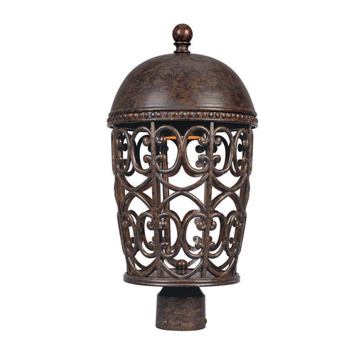 "Designers Fountain Amherst 10"" Post Lantern Dark Sky, Burnt Umber"