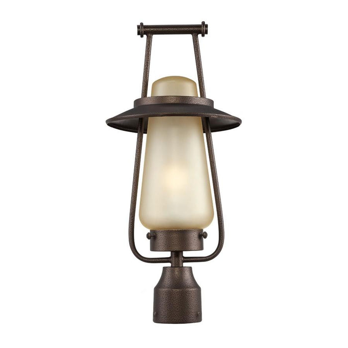 "Designers Fountain Stonyridge 9"" Post Lantern, Flemish Bronze"