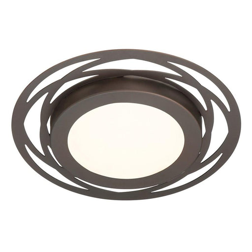 Designers Fountain Edge Lit LED Flushmount, Bronze