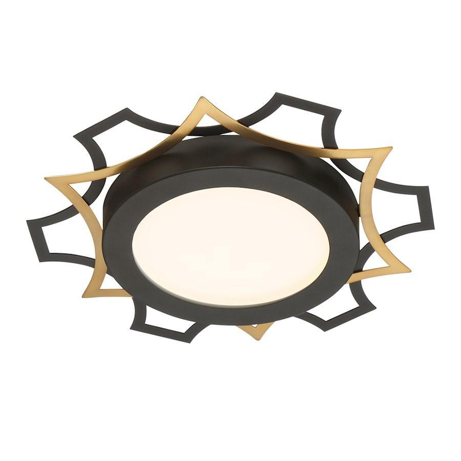 Designers Fountain Edge Lit LED Flushmount, Black