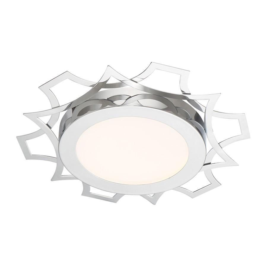 Designers Fountain Edge Lit LED Flushmount, Chrome