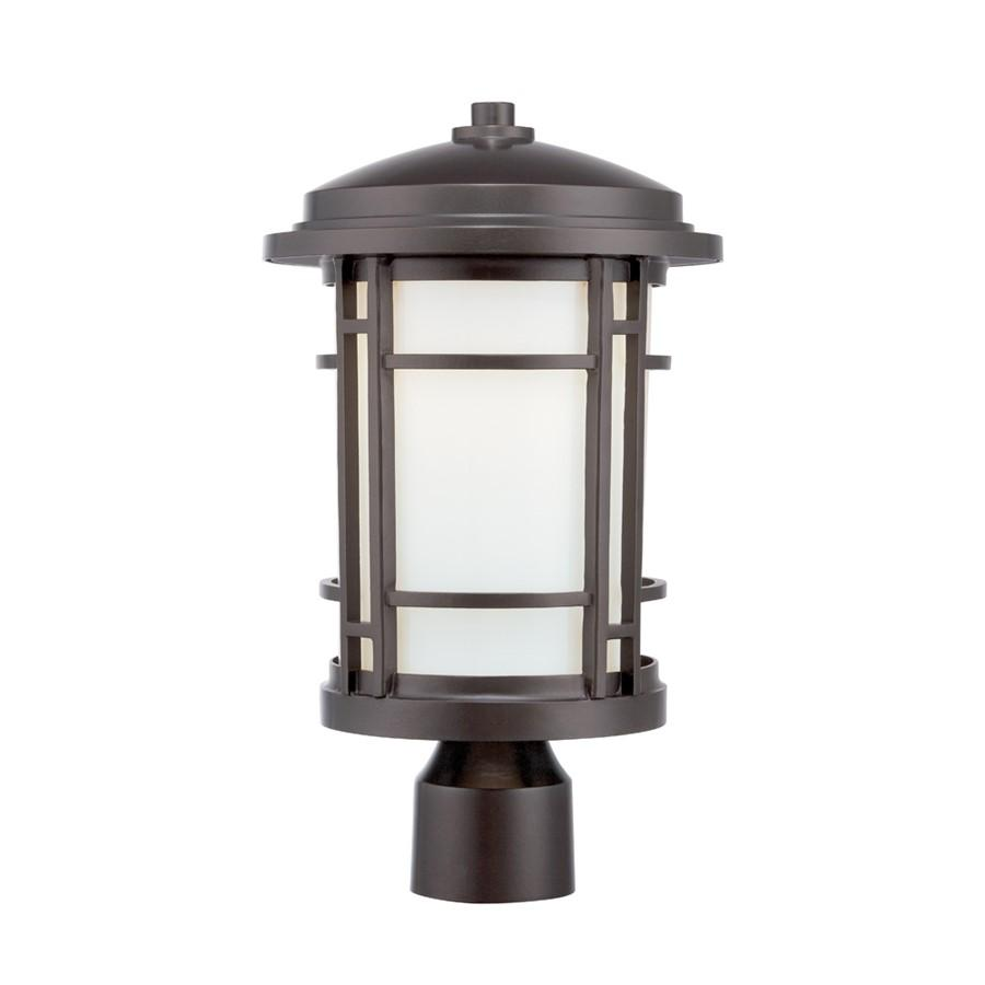 "Designers Fountain Barrister 9"" LED Post Lantern, Burnished Bronze"
